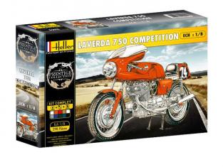 Heller maquette moto 52911 Coffret Complet LAVERDA 750 COMPETITION 1/8