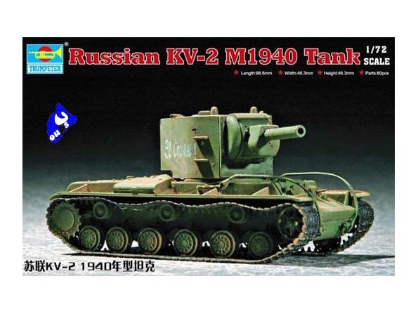 Trumpeter maquette militaire 07235 CHAR LOURD SOVIETIQUE KV-2 1/