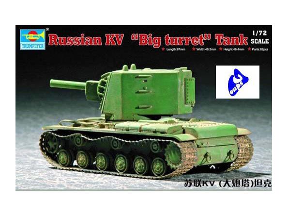 Trumpeter maquette militaire 07236 CHAR LOURD SOVIETIQUE KV 1/72