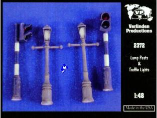 Verlinden maquette militaire 2372 Lampadaires et Feux 1/48