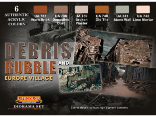 Lifecolor set de peintures CS31 SET DEBRIS et GRAVATS