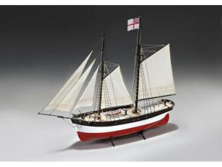Amati maquette bateau bois 1450 HUNTER Q-SHIP 1/60