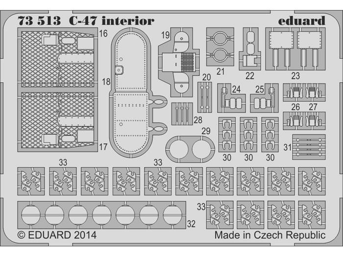 Eduard Edua73513 C-47 Interior S.A 1//72