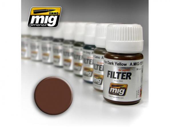 MIG peinture maquette 1500 Filtre marron pour blanc
