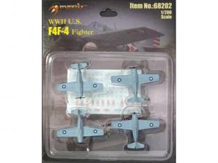 Merit maquette miniature avion 68202 4 X F4F-4 WILDCAT 1/200