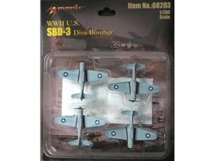 Merit maquette miniature avion 68203 4 X SBD-3 DAUNTLESS 1/200