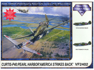 "Vintage maquette avion VF2402 CURTISS P-40C "" PEARL HARBOR"" 1941	1/24"