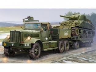 Merit maquette militaire 63502 TRACTEUR ET PORTE CHAR US M19 (Cabine Bâchée) 1944 1/35