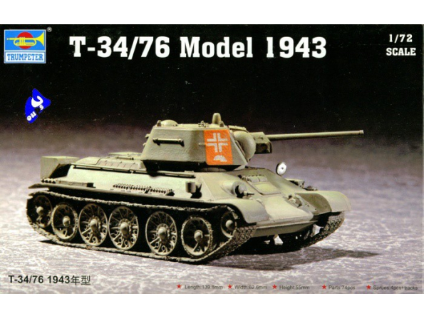 Trumpeter maquette militaire 07208 T-34/76 mod. 43 1/72