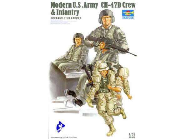Trumpeter maquette militaire 00415 EQUIPAGE DE CH-47D 1/35