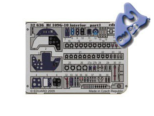 EDUARD photodecoupe 32636 INTERIEUR BF 109G-10 1/32