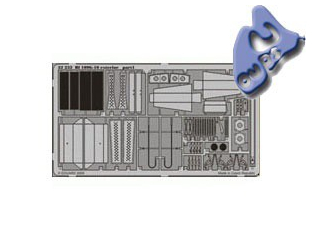 EDUARD photodecoupe 32232 EXTERIEUR BF 109G-10 1/32
