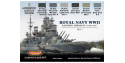 Lifecolor set de peintures cs33 Royal Navy WWII set I