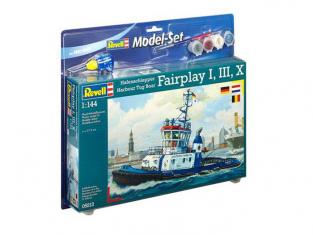 Revell maquette bateau 65213 Model set Model Set Harbour Tug Boat 1/144