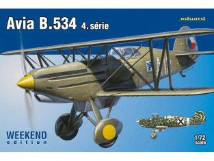 EDUARD maquette avion 7428 Avia B.534 4.série Weekend 1/72