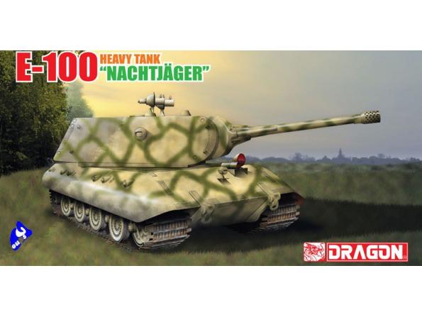"""Dragon maquette militaire 6011x E-100 """"Nachtjäger"""" & personnages"""