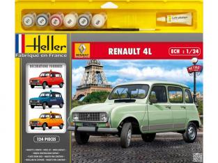 Heller maquette voiture 50759 Coffret RENAULT 4L GTL 1/24