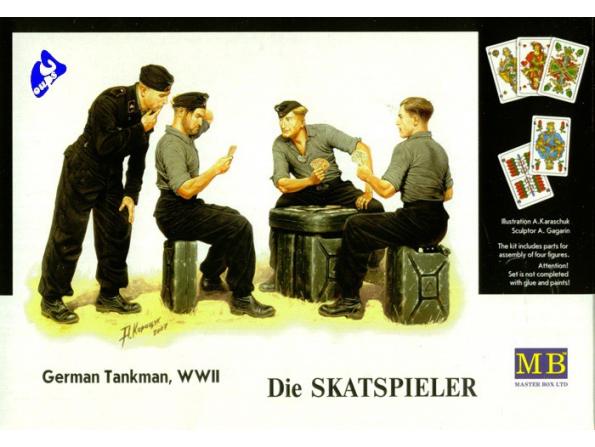 Master Box maquette militaire 3525 les joueurs de cartes 1/35