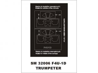 Montex Mini Mask SM32006 F4U-1D Corsair Trumpeter 1/32