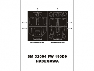 Montex Mini Mask SM32004 Focke Wulf Fw190D-9 Hasegawa 1/32
