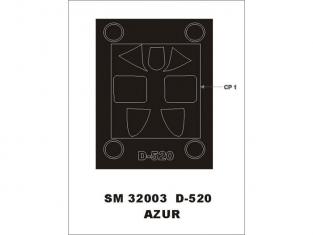 Montex Mini Mask SM32003 Dewoitine D-520 Azur 1/32