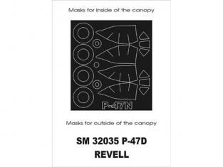 Montex Mini Mask SM32035 P-47D Thunderbolt Revell 1/32