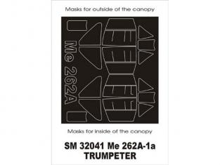 Montex Mini Mask SM32041 Messerschmitt Me-262A Schwalbe Trumpeter 1/32