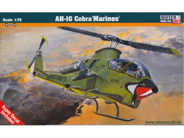 MASTER CRAFT maquette hélicoptère 020347 BELL AH-1G COBRA MARINES 1/72