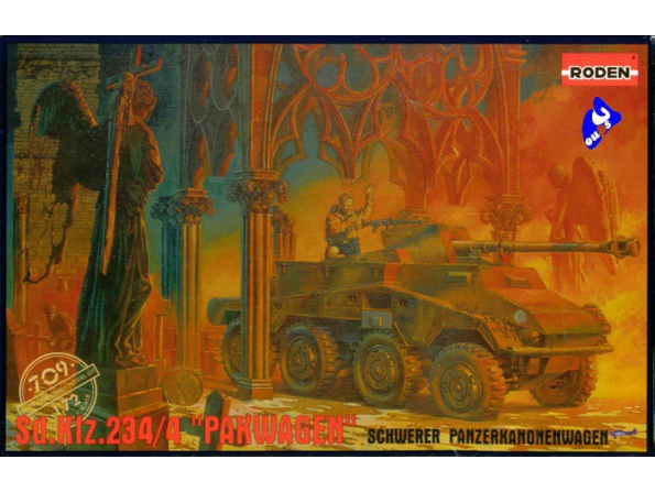 "Roden maquette militaire 709 SdKfz 234/4 ""Packwagen"" 1/72"