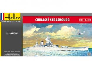 Heller maquette bateau 81082 Cuirassé Strasbourg 1/400