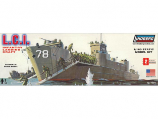Lindberg maquette bateau 404 LCI Infantry Landing Craft 1/160