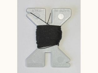 Fil hauban noir 0,25mm 10 mètres 34280
