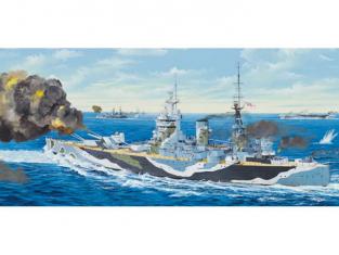 Trumpeter maquette bateau 03708 CUIRASSE BRITANNIQUE HMS NELSON 1944 1/200