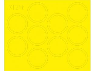 Eduard Express Mask XT214 Masques de roues T-34/85 Academy 1/35