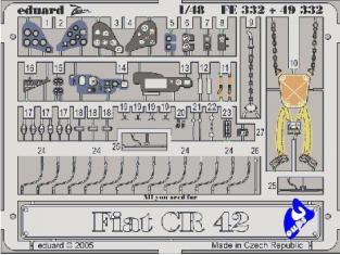 Eduard photodecoupe 49332 Fiat CR42 Falco Italeri 1/48