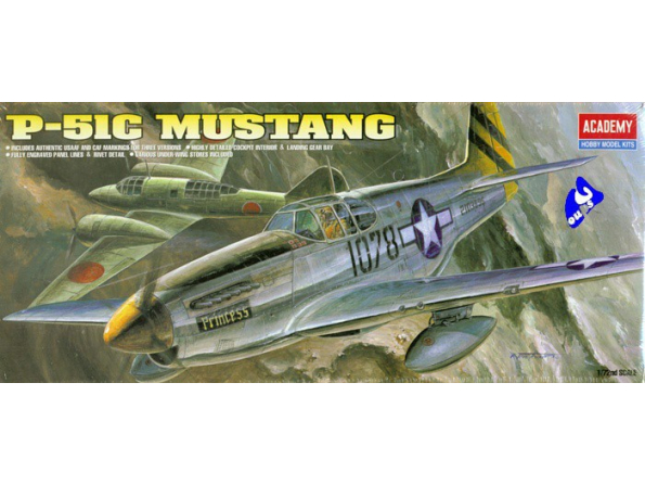 Academy maquettes avion 12441 P51C Mustang 1/72