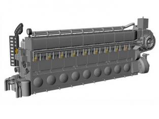 CMK kit amelioration N72027 MOTEUR DIESEL MAN M9V46 Pour U-BOOT IX C 1/72