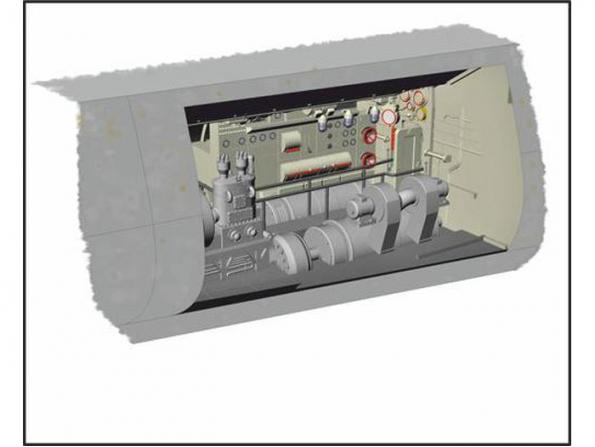CMK kit amelioration N72024 U-BOOT IX COMPARTIMENT MOTEUR ÉLECTRIQUE 1/72