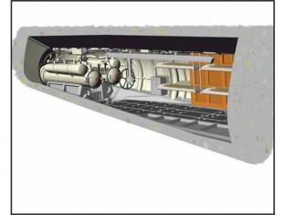 CMK kit amelioration N72012 U-BOOT IX ARRIÈRE + COMPARTIMENT TORPILLES COUCHETTES ÉQUIPAGE 1/72