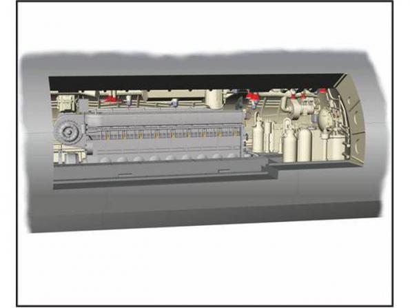 CMK kit amelioration N72017 U-BOOT IX COMPARTIMENT MOTEUR DIESEL 1/72