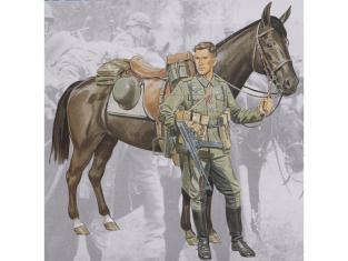 Dragon personnage militaire 1619 Wehrmacht cavalerie 1/16