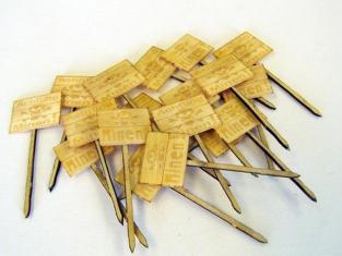 """Plus Model 4019 Pancartes en bois """"Achtung minen"""" 1/48"""
