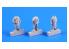 Cmk figurine F72250 ÉQUIPAGE DE U-BOAT En TENUE (Ciré) DE MAUVAIS TEMPS 1/72