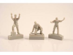Cmk figurine F72252 EQUIPAGE DE U-BOAT IXC MANIPULANT UNE TORPILLE 1/72