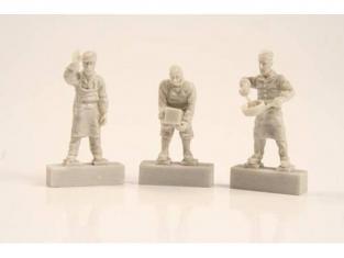 Cmk figurine F72254 EQUIPAGE DE U-BOAT IXC CUISINIERS 1/72