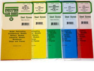 Evergreen 9902 plaques transparente Bleue x2