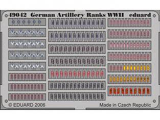 Eduard photodecoupe militaire 49042 Grades artillerie Allemande WWII 1/48