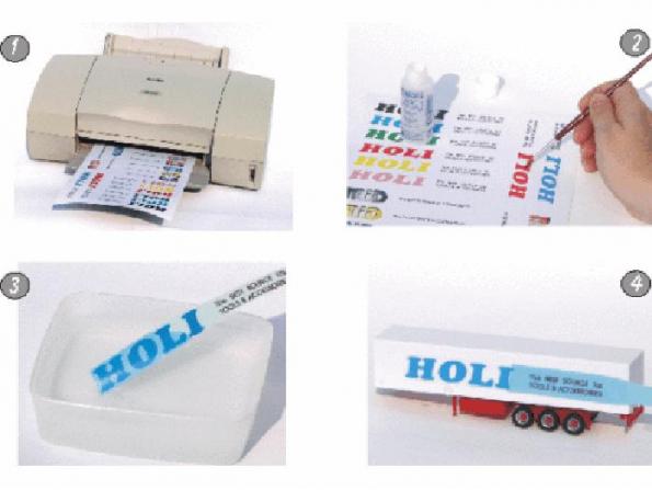 HOLI finition d123 Decal Papier Transparent pour imprimante laser 3 feuilles