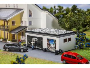 Faller construction train 130620 Garage double avec pièces de commande HO