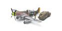 TAMIYA maquette avion 89732 P51-D Mustang & Staff Car 1/48